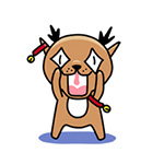 22 Super cute little deer emoji chat expressions download