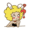 20 Funny Bunny Girl emoji chat expressions download