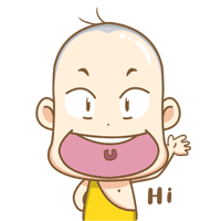 10 12 Lovely and interesting cartoon young monk emoji