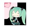 13 80  Hatsune Miku emoticons gifs emoji free download