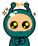 64 Lovely alien boy girl emoji gifs